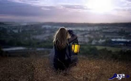 عکس دختر تنها و غم انگیز