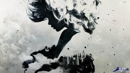 عکس عاشقانه سیاه و سفید