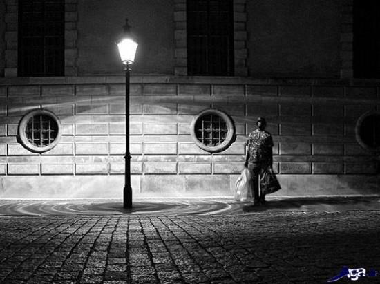 عکس های سیا ه و سفید تنهایی
