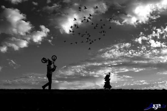 عکس خاص سیاه و سفید