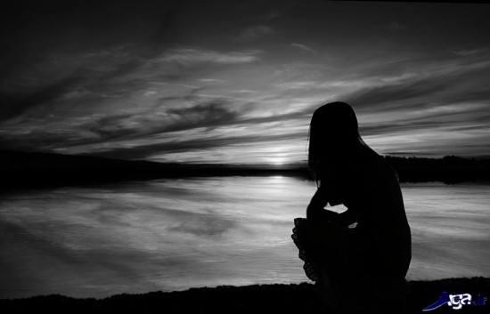 عکس دلتنگی سیاه و سفید
