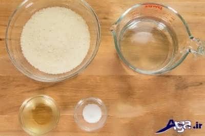مواد لازم برای کته برنج