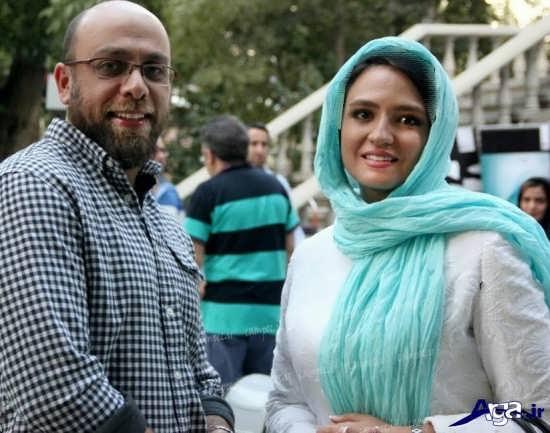 عکس گلاره عباسی و همسرش