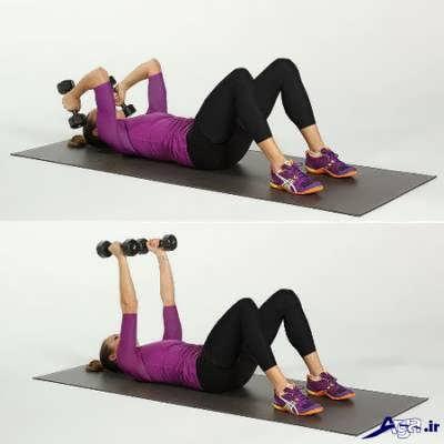 ورزش برای لاغری و سفت شدن بازوها