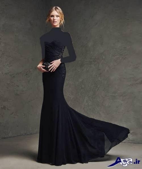مدل های لباس مجلسی بلند دنباله دار