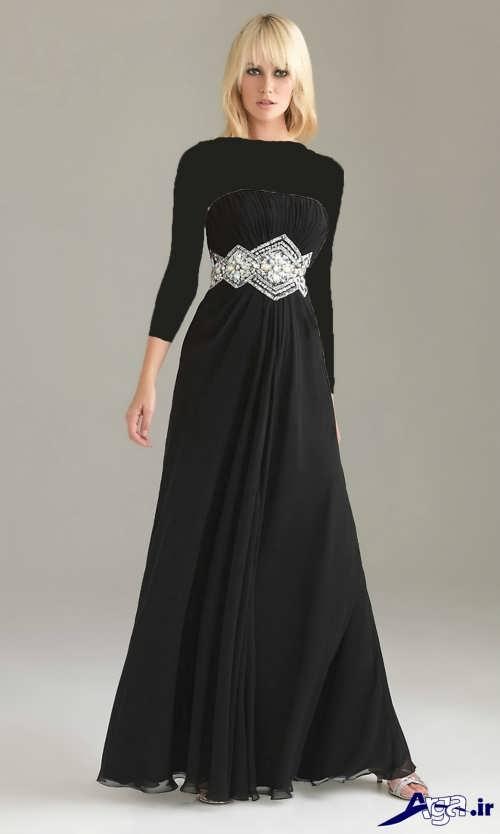 مدل لباس مجلسی بلند مشکی