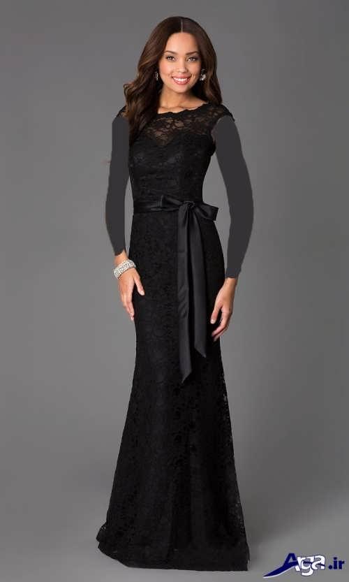 لباس مجلسی بلند مشکی