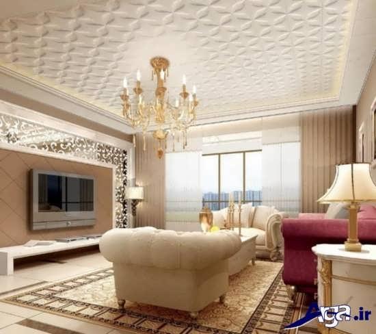 طرح های گچ بری سقف پذیرایی