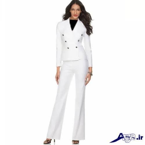 مدل کت شلوار دخترانه سفید