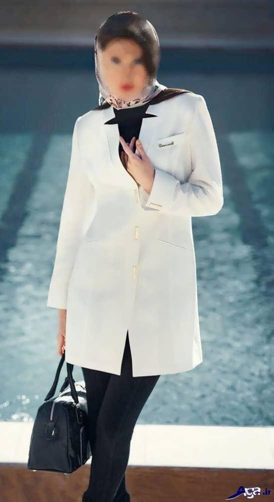 انواع مدل مانتوهای سفید