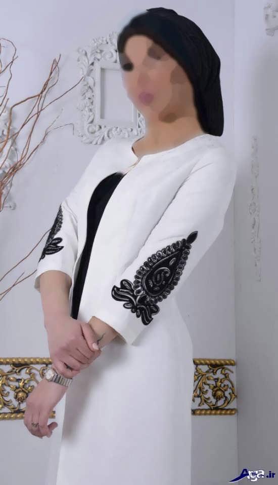 گالری مدل مانتو سفیدزیبا