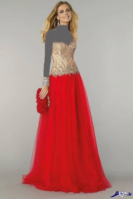 لباس مجلسی قرمز دخترانه