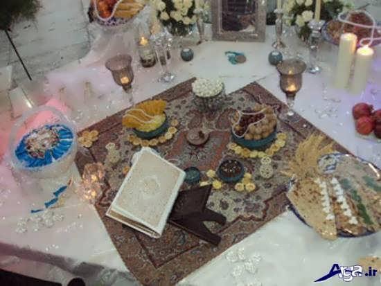 تزیین سفره های عقد سنتی ایرانی