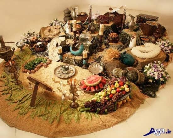 تزیین سفره عقد سنتی ایرانی