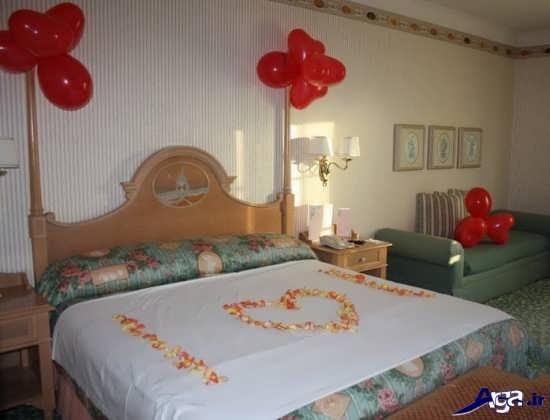 تزیین تختخواب رمانتیک
