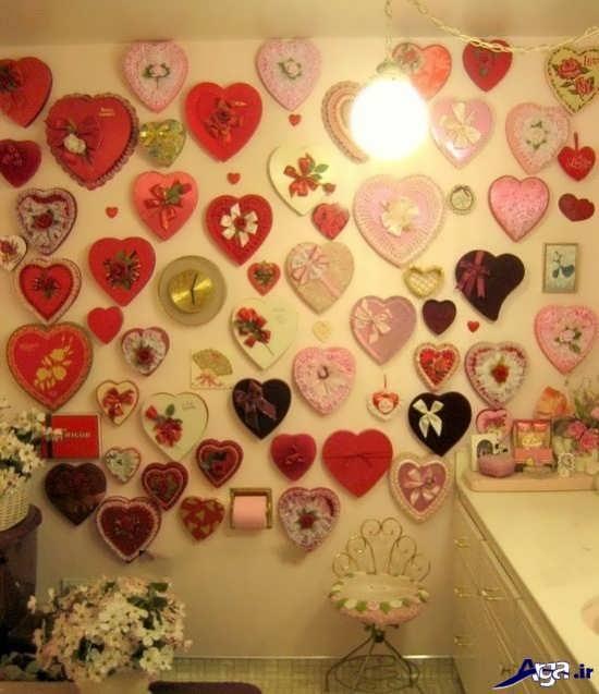 تزیین دیوار رمانتیک و عاشقانه