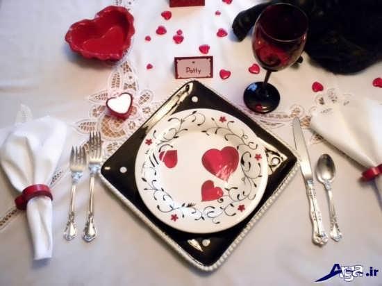 تزیین میز رماننیک و عاشقانه