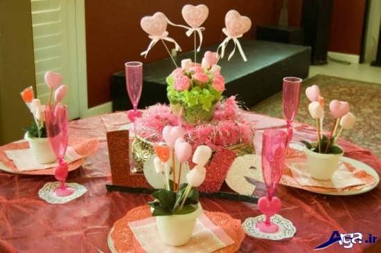 تزیین رمانتیک میز ناهار خوری