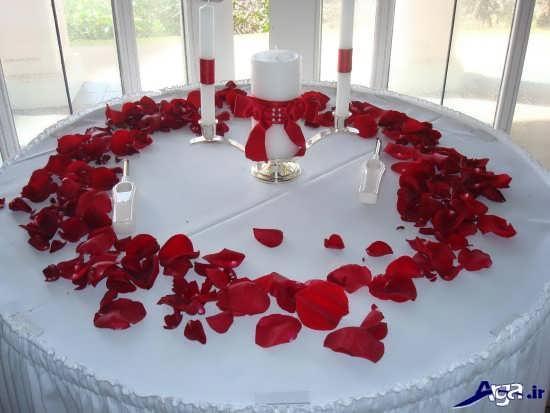 تزیین میز غذا برای سالگرد ازدواج با گل