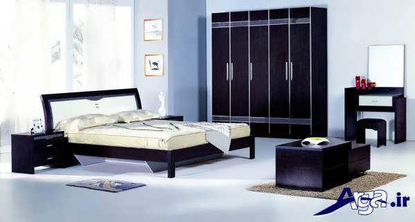 مدل های سرویس خواب ام دی اف با رنگ تیره