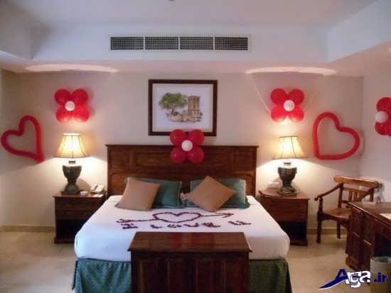 تزیینات ساده اتاق خواب عروس