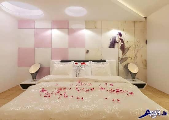 دیزاین اتاق خواب عروس شیک و زیبا