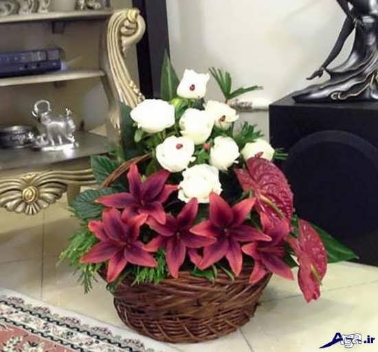 سبد گل زیبا برای روز خواستگاری