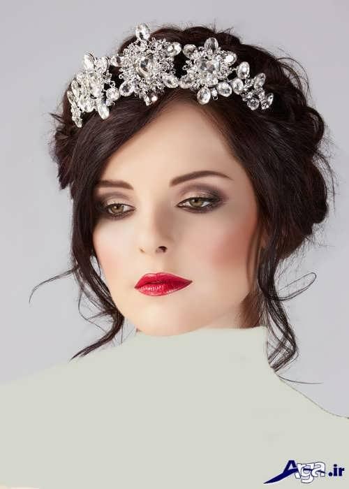 مدل موی عروس زیبا با تاج