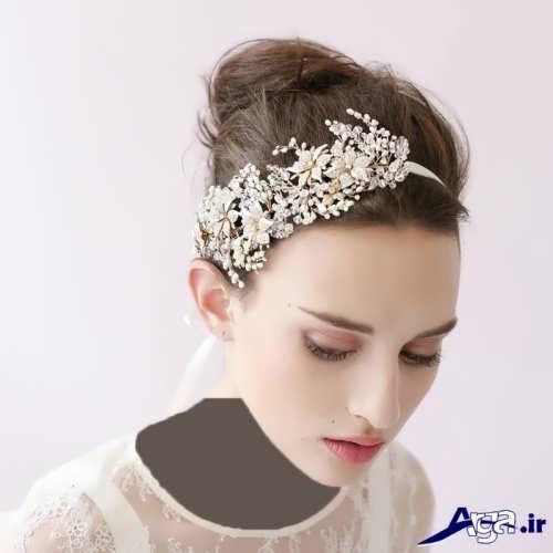 زیباترین و جدیدترین مدل موهای عروس با تاج