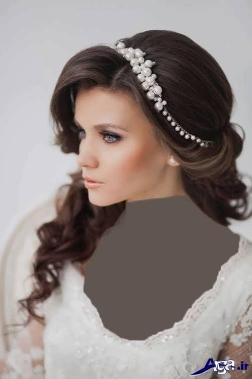 مدل موی عروس با تاج زیبا