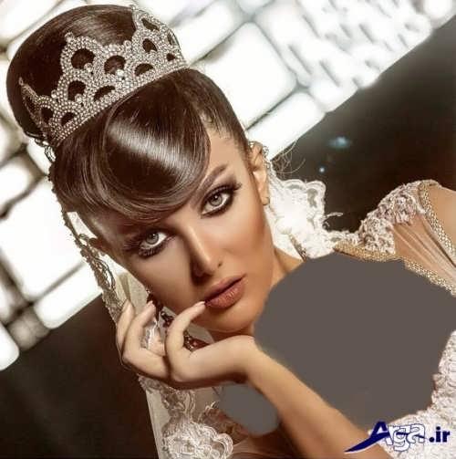 مدل موی عروس با تاج های زیبا و شینیون های شیک