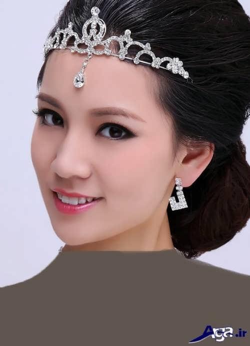 زیباترین و جدیدترین شینیون های عروس با تاج
