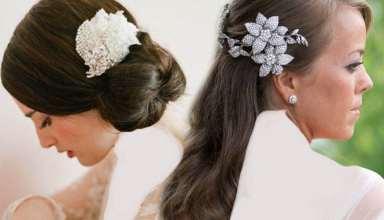 مدل موی عروس با تاج با شینیون های جذاب