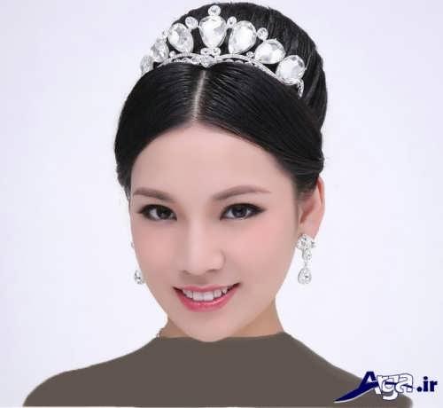 مدل موی عروس با تاج های زیبا