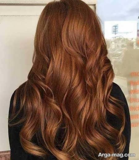 رنگ موهای عسلی تیره