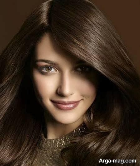 رنگ موهای شکلاتی تیره