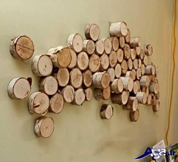 تزیین دیوار اتاق خواب با کمک چوب