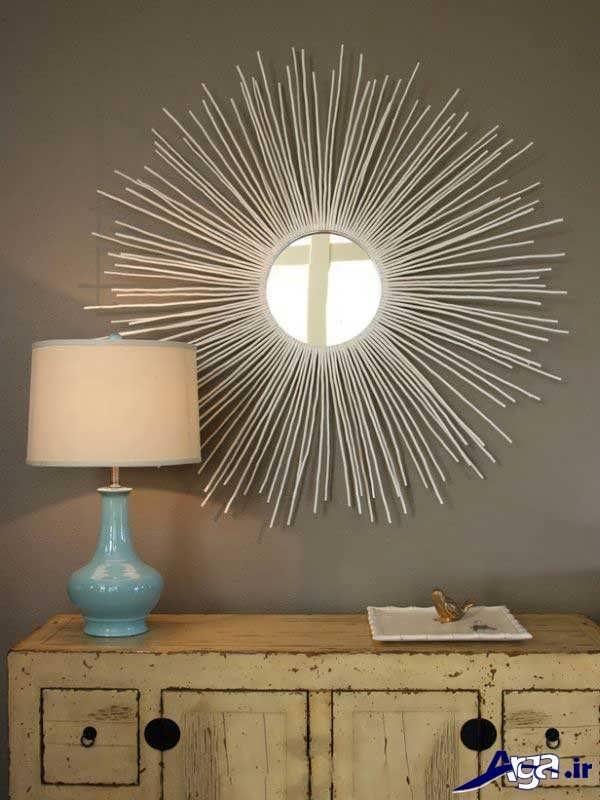 ساخت آینه برای اتاق خواب با وسایل دور ریختنی