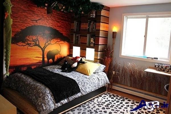 تزیین زیبا اتاق خواب با نورپردازی
