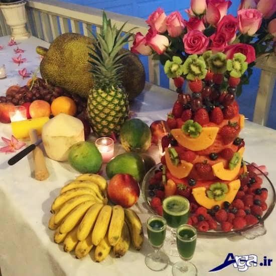 تزیین زیبا میوه روی میز