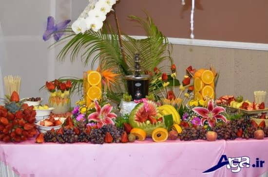تزیین میوه روی میز به کمک روش های خلاقانه