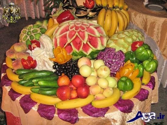 تزیین زیبا میوه های روی میز