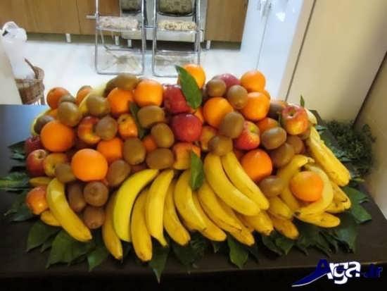 تزیین میز گرد کنار سالن تزیین میوه روی میز جدید و متفاوت برای مهمانی های مختلف
