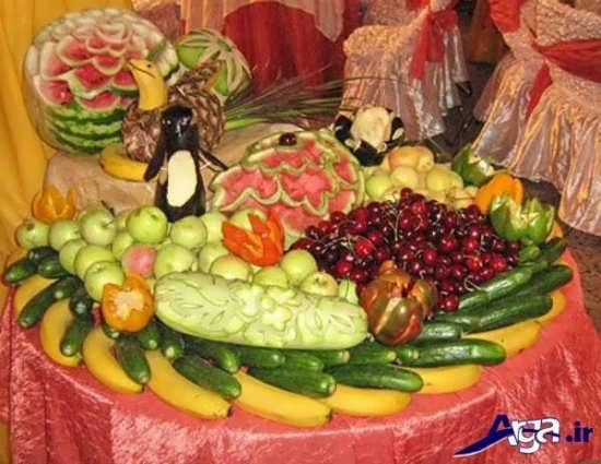 تزیین کردن میوه برای روی میز