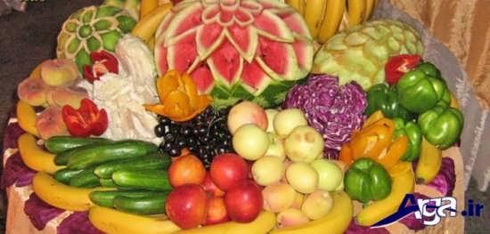 تزیین زیبا و متفاوت میوه های روی میز