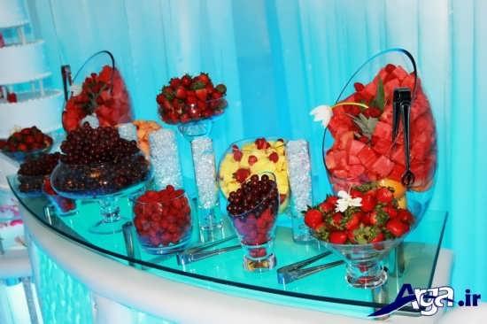 تزیین انواع میوه های روی میز