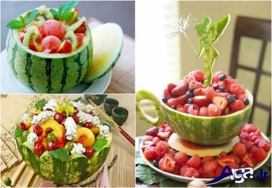 انواع تزیینات میوه برای روی میز