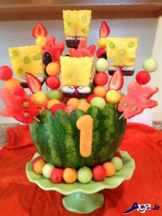 تزیین میوه برای روی میز تولد