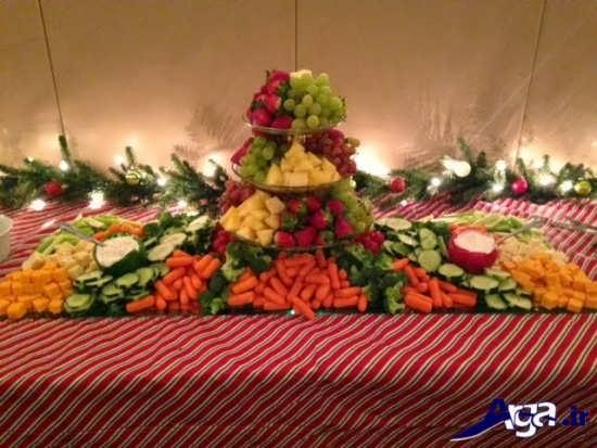تزیین میوه های روی میز با کمک روش های متفاوت