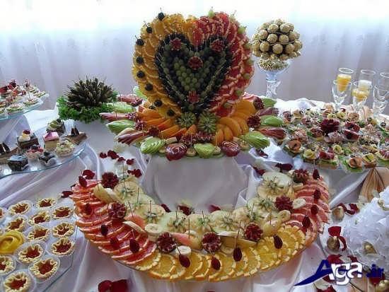 تزیین زیبا و متفاوت میوه روی میز